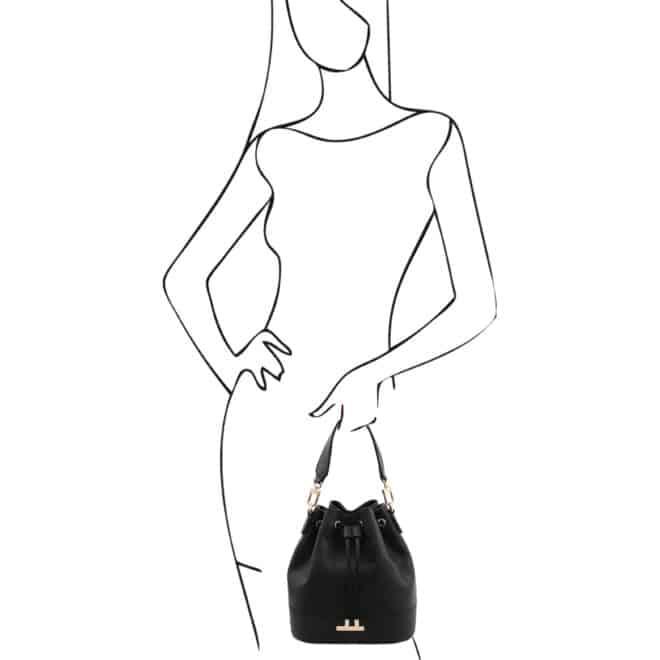 leren damestas TL bag 83 zwart handtas
