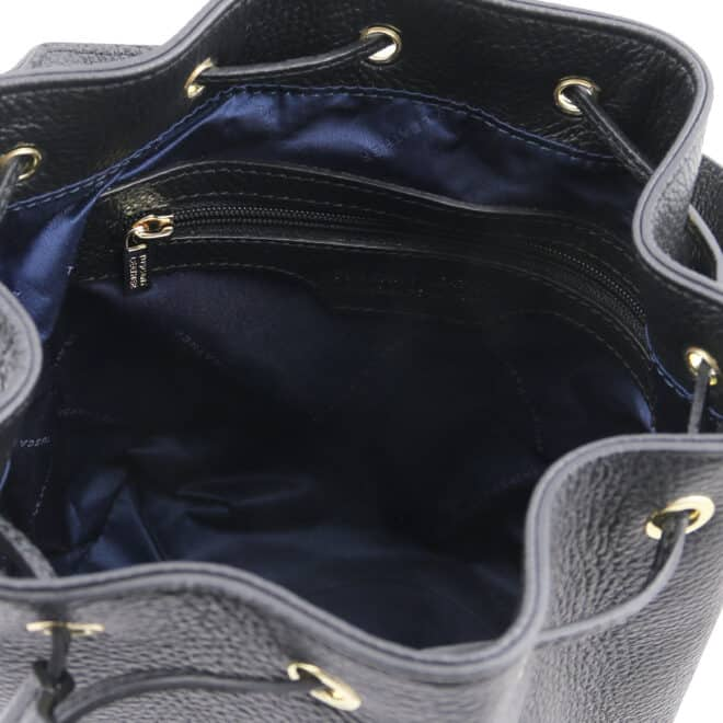 leren damestas TL bag 83 zwart binnenkant vak met rits