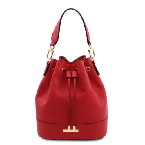 leren damestas TL bag 83 rood voorkant
