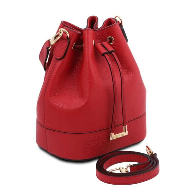 leren damestas TL bag 83 rood zijkant