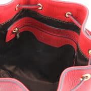 leren damestas TL bag 83 rood binnenkant vak met rits