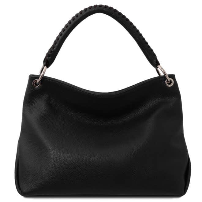 leren damestas tl bag 87 zwart achterkant