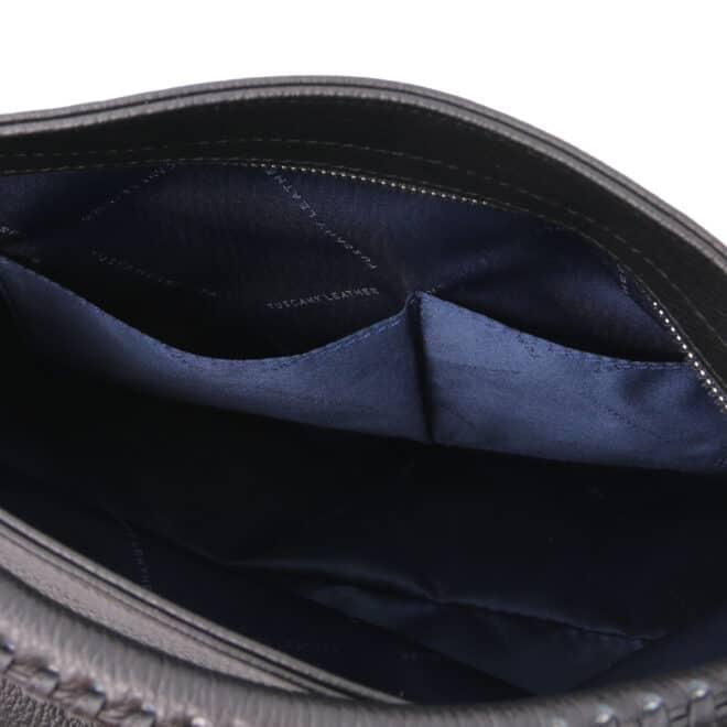 leren damestas tl bag 87 zwart open vakken