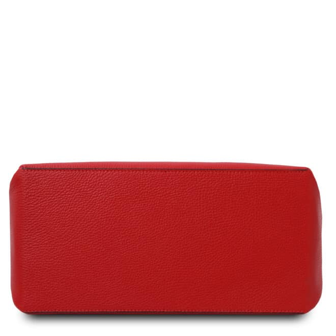leren damestas tl bag 87 rood onderkant