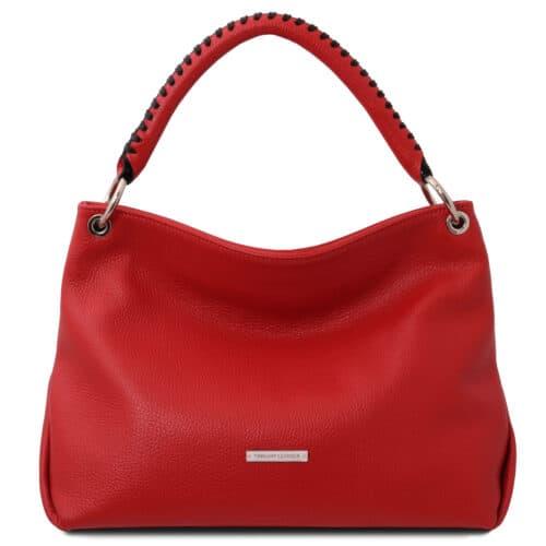 leren damestas tl bag 87 rood voorkant