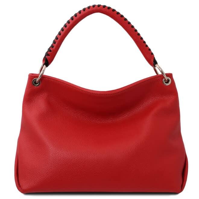 leren damestas tl bag 87 rood achterkant