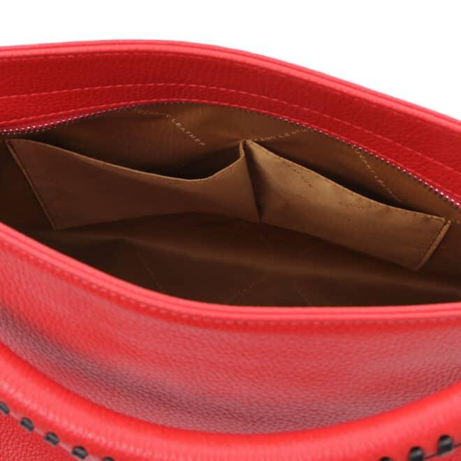 leren damestas tl bag 87 rood open vakken