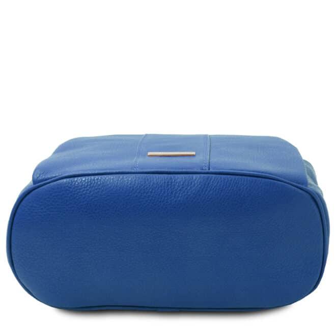 leren dames rugzak tl bag 38 blauw onderkant
