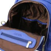 leren dames rugzak tl bag 38 blauw open vakken