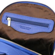 leren dames rugzak tl bag 38 blauw vak met rits binnenkant