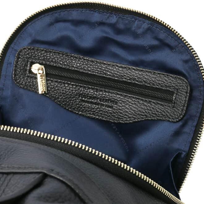 leren dames rugzak tl bag 38 zwart vak met rits binnenkant