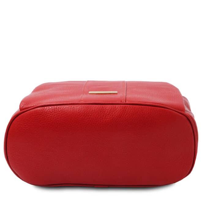 leren dames rugzak tl bag 38 rood onderkant