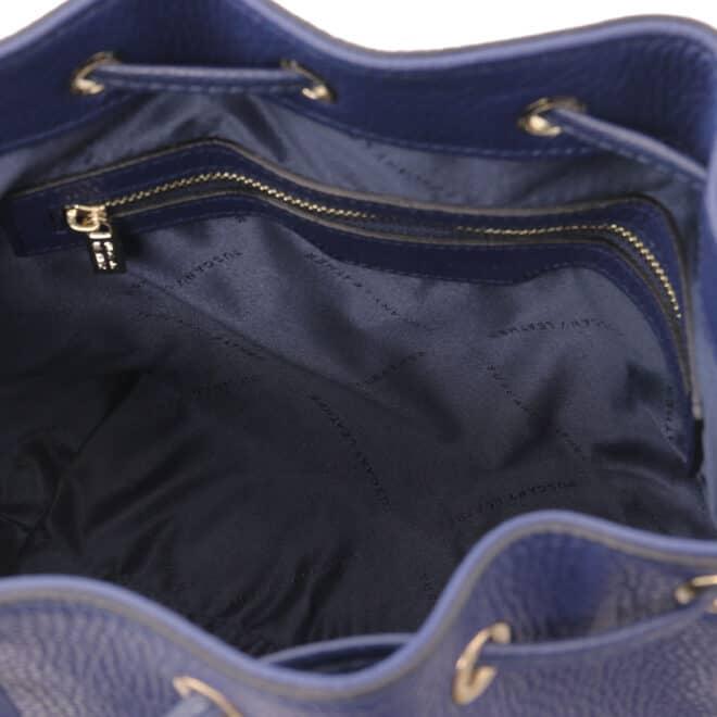 leren damestas TL bag 46 donkerblauw binnenvak met rits