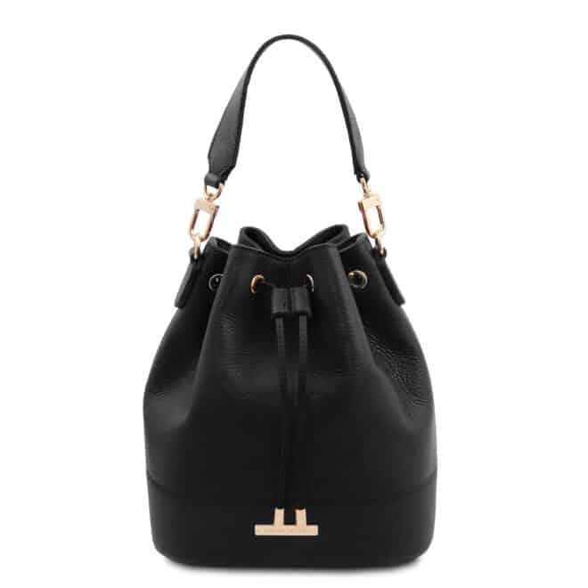 leren damestas TL bag 46 zwart voorkant
