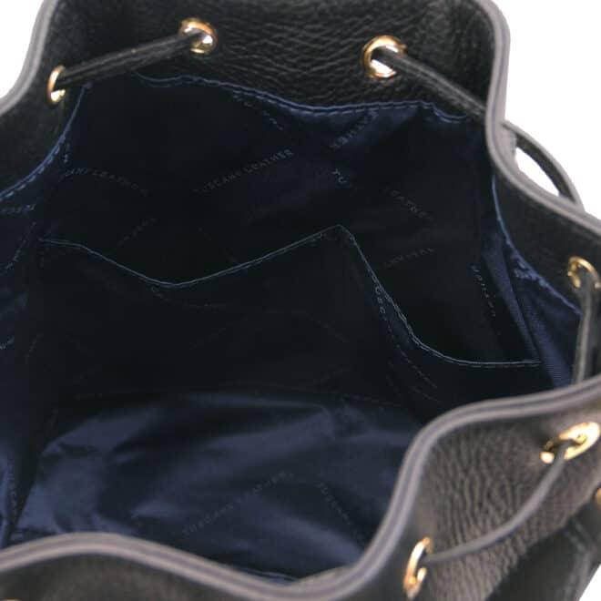leren damestas TL bag 46 zwart open vakken aan de binnenkant van de tas