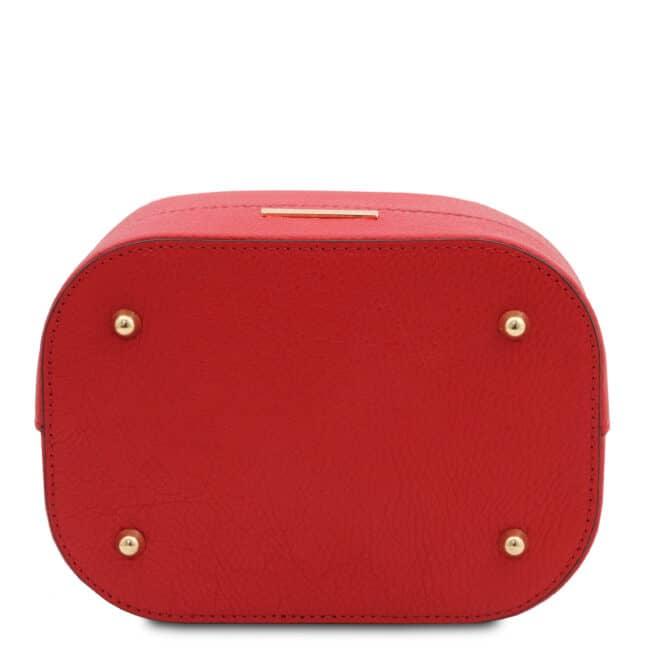 leren damestas TL bag 46 rood onderkant