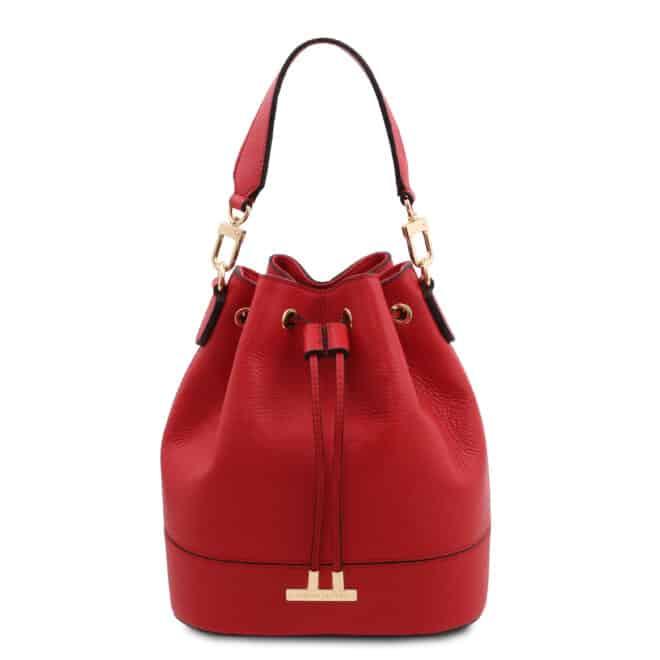 leren damestas TL bag 46 rood voorkant