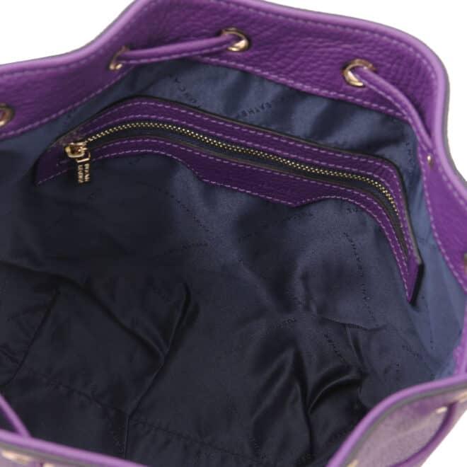 leren damestas TL bag 46 paars vak met rits aan de binnenkant