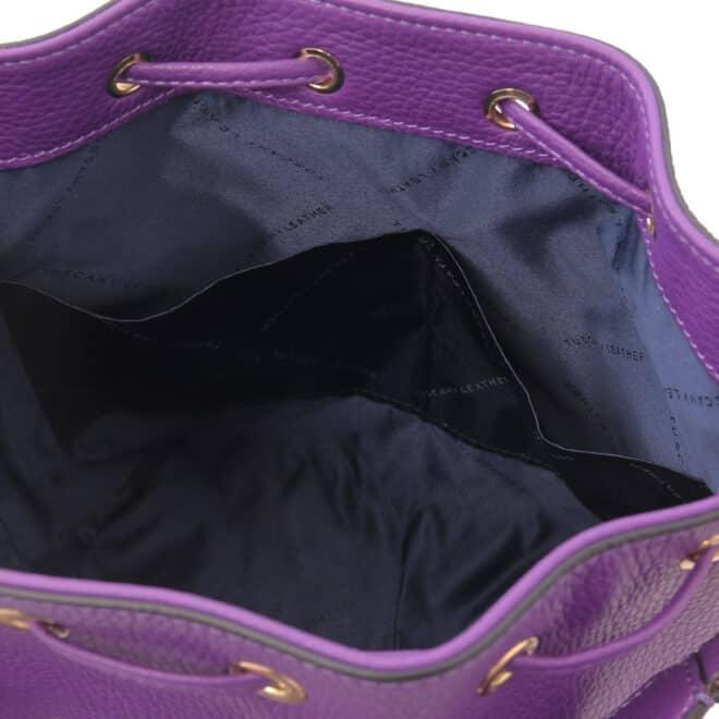 leren damestas TL bag 46 paars open vakken aan de binnenkant