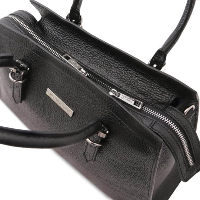 leren damestas tl bag 47 zwart bovenkant