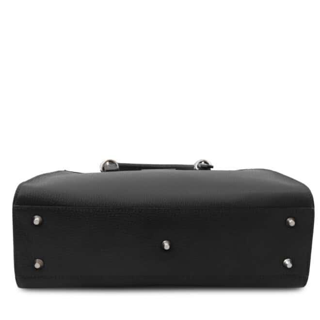 leren damestas tl bag 47 zwart onderkant