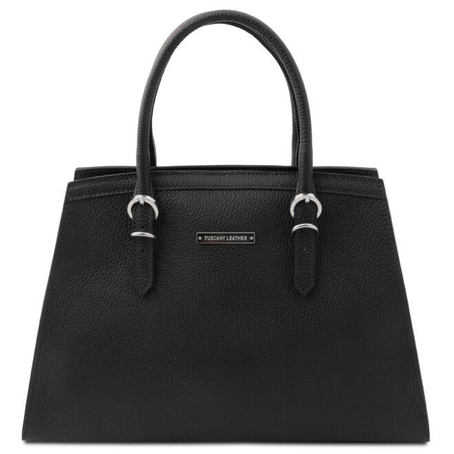 leren damestas tl bag 47 zwart voorkant