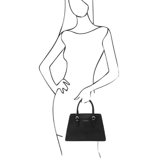 leren damestas tl bag 47 zwart handtas