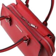 leren damestas tl bag 47 rood bovenkant