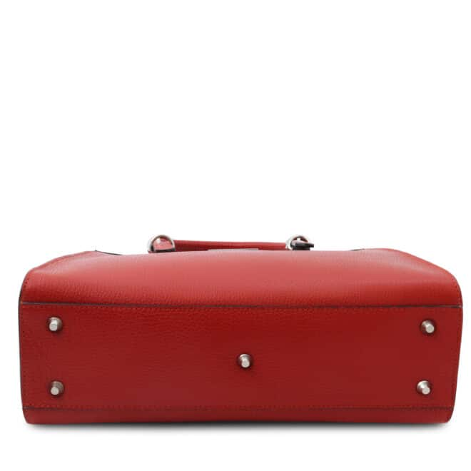 leren damestas tl bag 47 rood onderkant