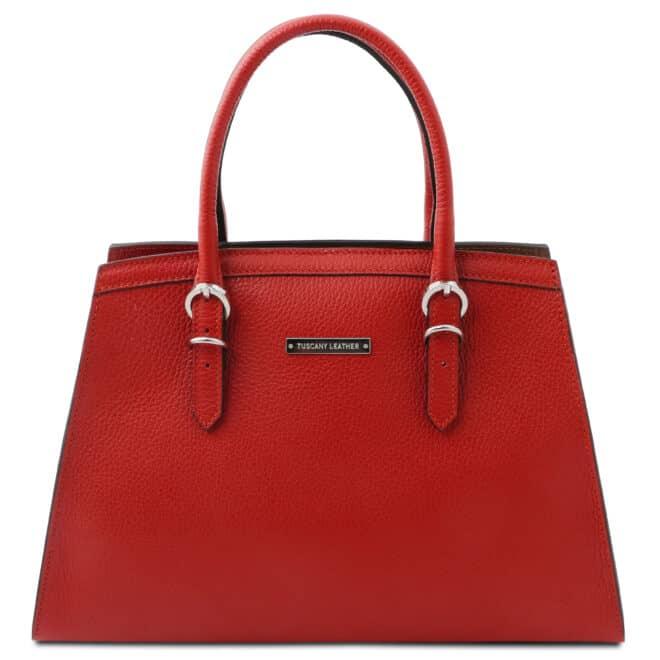 leren damestas tl bag 47 rood voorkant