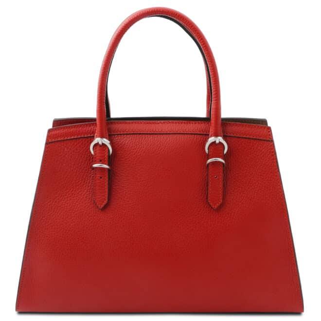 leren damestas tl bag 47 rood achterkant
