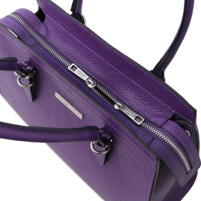 leren damestas tl bag 47 paars bovenkant